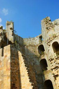Kasteel Hunaudaye; kasteel Bretagne; toren kasteel