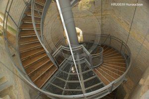 Kasteel Hunaudaye; kasteel Bretagne; wenteltrap kasteel