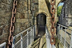 Hunaudaye Castle; entrance gate castle; castle Brittany
