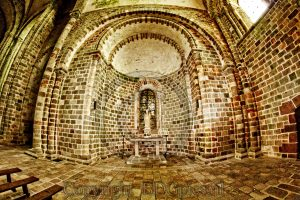 Kapel Le Mont-Saint-Michel; eiland Normandie; abdij Frankrijk