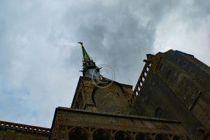 Tower Le Mont-Saint-Michel; island Normandy; abbey France