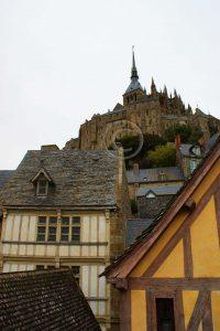 Le Mont-Saint-Michel; abdij; Normandie; huizen Le Mont-Saint-Michel