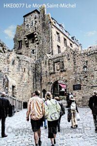 Toeristen Le Mont-Saint-Michel; ingang Le Mont-Saint-Michel; poort Le Mont-Saint-Michel